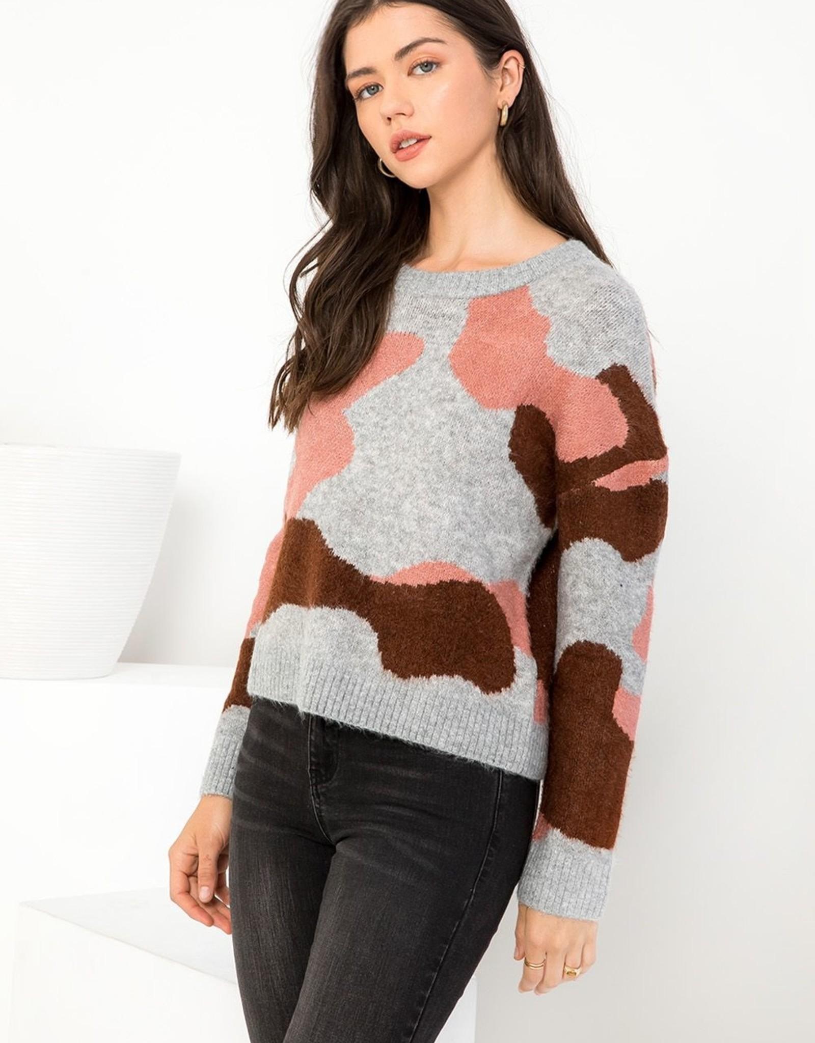 THML Camo Crew Sweater