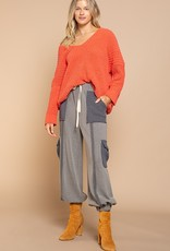 POL Clothing Cozy Cotton Chenille Pullover