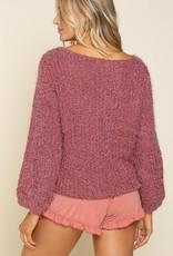 POL Clothing Alpaca Crew Neck Sweater