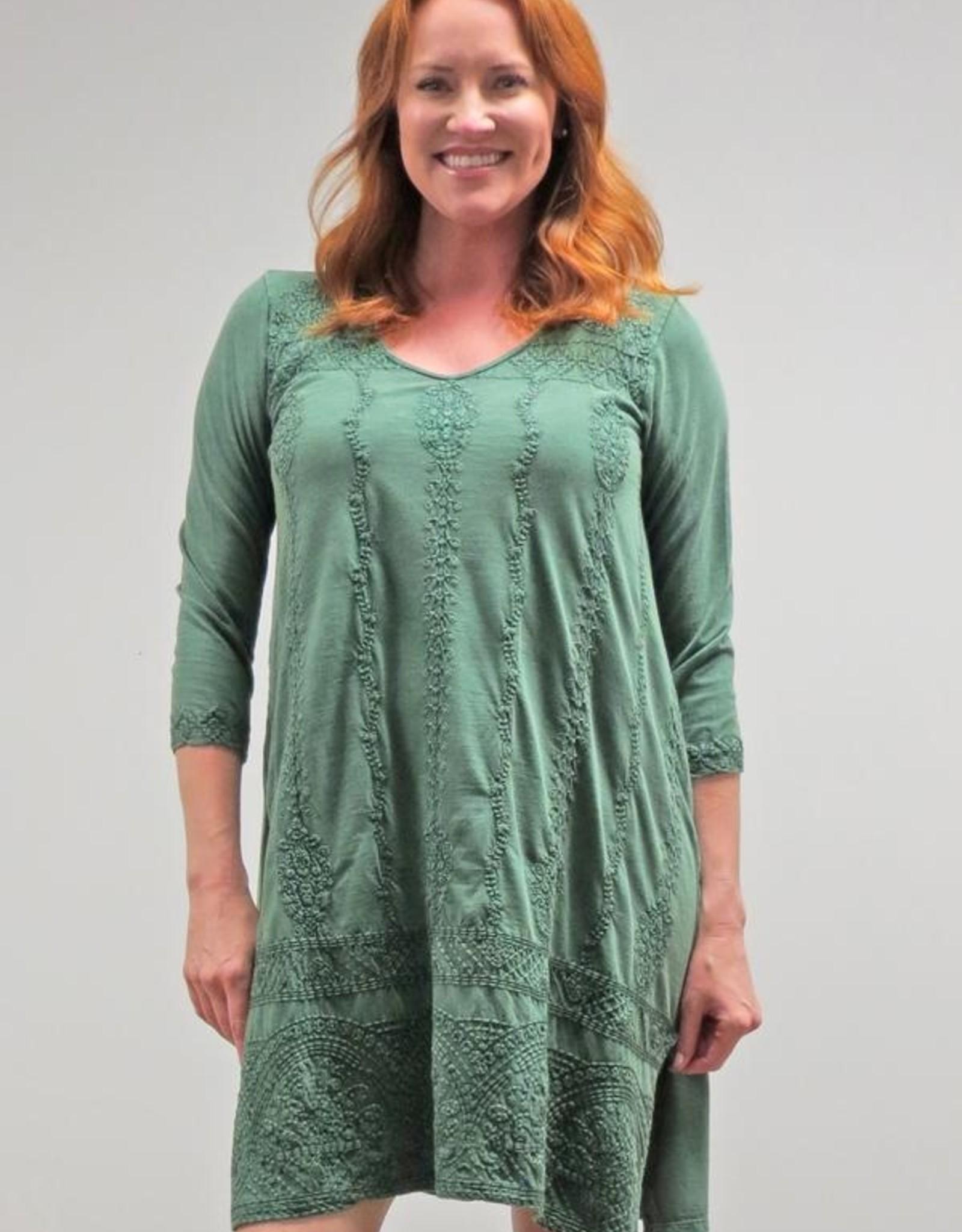 Caite Embroidered Junia Dress