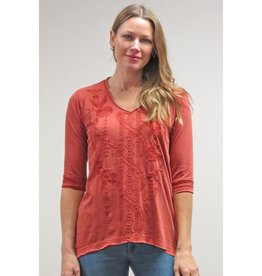 Caite Embroidered Dolly Top