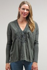 Caite Embroidered Juliana Top