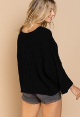 POL Clothing Cropped Chenille Cozy Sweater