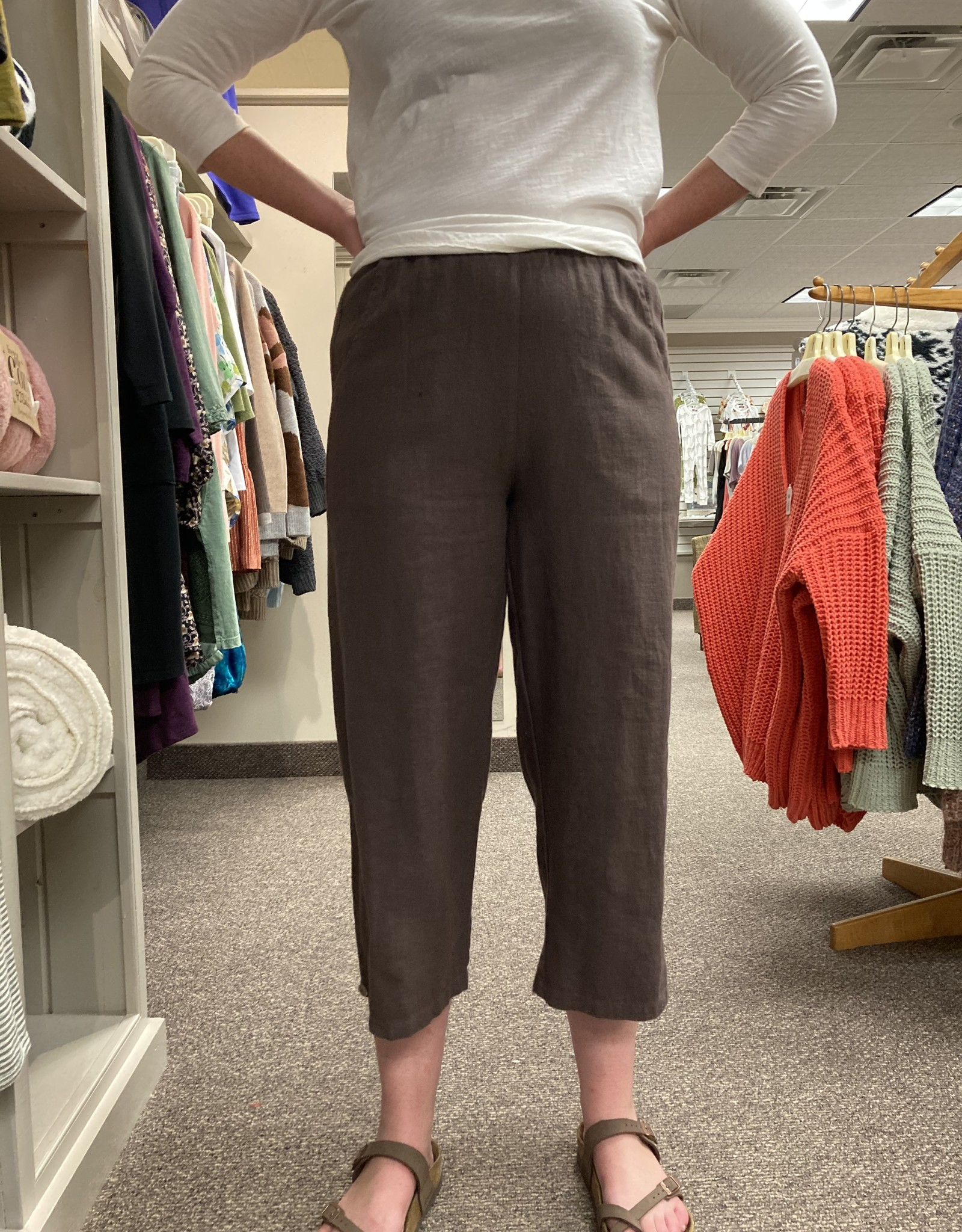 Kleen Idea, Inc Cropped Button Pant