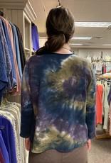 Kleen Idea, Inc Tie Dye Raw Edge Top