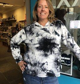 Kleen Idea, Inc Tie Dye Loose Hooded Top