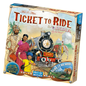 DAYS OF WONDER TICKET TO RIDE : MAP #2  - INDIA + SWITZERLAND  (MULTI)