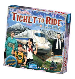 DAYS OF WONDER TICKET TO RIDE: JAPAN/ ITALY MAP #7 (ML)