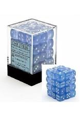 CHESSEX BOREALIS 36D6 SKY BLUE/WHITE 12MM