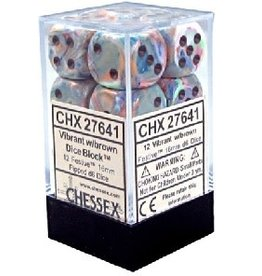 CHESSEX FESTIVE 12D6 VIBRANT/BROWN 16MM
