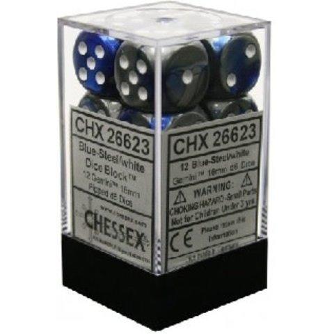 GEMINI 12D6 BLUE-STEEL/WHITE 16MM