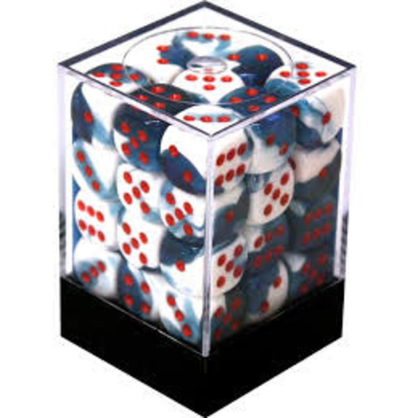 CHESSEX GEMINI 36D6 ASTRAL-BLUE/RED 12MM