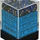 CHESSEX GEMINI 36D6 BLACK-BLUE/GOLD 12MM