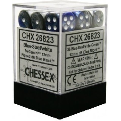 GEMINI 36D6 BLUE-STEEL/WHITE 12MM