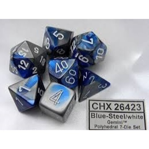 GEMINI 7-DIE SET BLUE-STEEL/WHITE