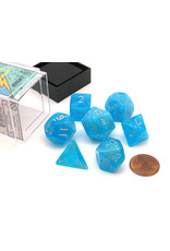 CHESSEX LUMINARY 7-DIE SET SKY W/SILVER