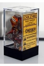 CHESSEX LUSTROUS 7-DIE SET GOLD/SILVER