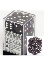 CHESSEX OPAQUE 12D6 BLACK/WHITE 16MM