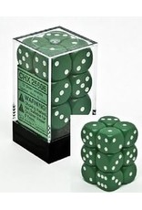 CHESSEX OPAQUE 12D6 GREEN/WHITE 16MM
