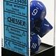 CHESSEX OPAQUE 7-DIE SET BLUE/WHITE