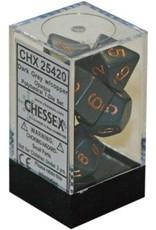 CHESSEX OPAQUE 7-DIE SET DARK GREY/COPPER