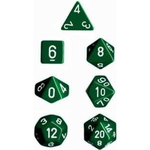 OPAQUE 7-DIE SET GREEN/WHITE