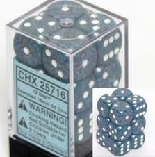 CHESSEX SPECKLED 12D6 SEA 16MM