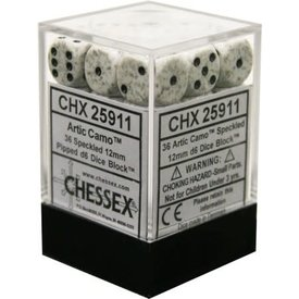 CHESSEX SPECKLED 36D6 ARTIC CAMO 12MM