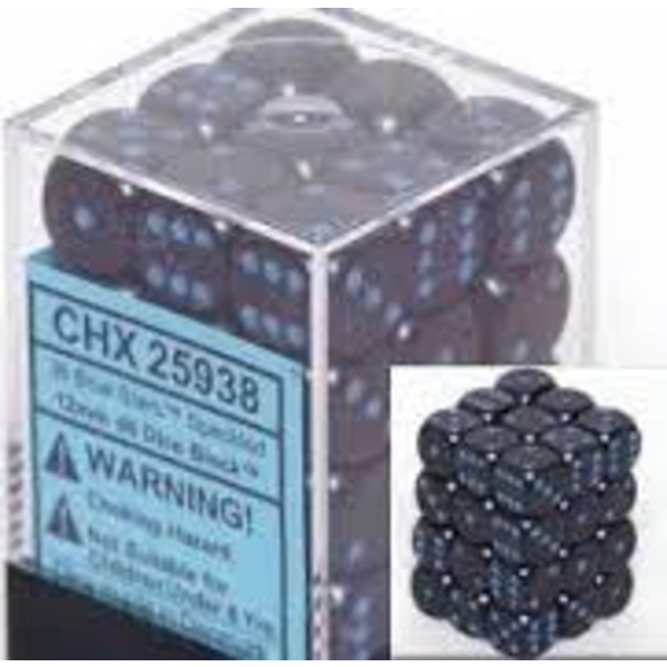 CHESSEX SPECKLED 36D6 BLUE STARS 12MM