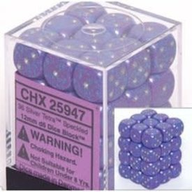 CHESSEX SPECKLED 36D6 SILVER TETRA 12MM