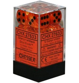 CHESSEX VORTEX 12D6 ORANGE/BLACK 16MM