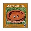 CIRCULAR WOODEN DICE TRAY - CHERRY