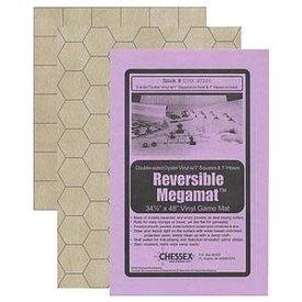 """CHESSEX MEGAMAT (Format 1'') REVERSIBLE SQUARE/HEX 34½""""x48""""(88x122cm)"""