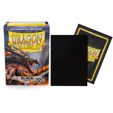 DRAGON SHIELD SLEEVES MATTE BLACK NON-GLARE 100CT
