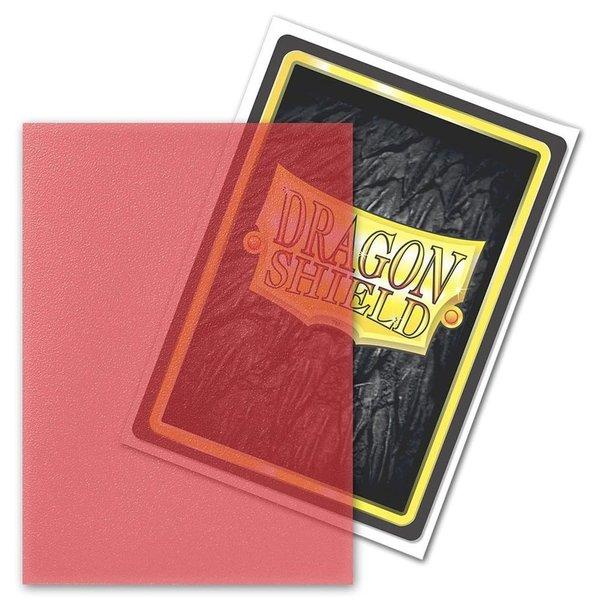 Arcane Tinmen DRAGON SHIELD SLEEVES MATTE CLEAR RED 100CT