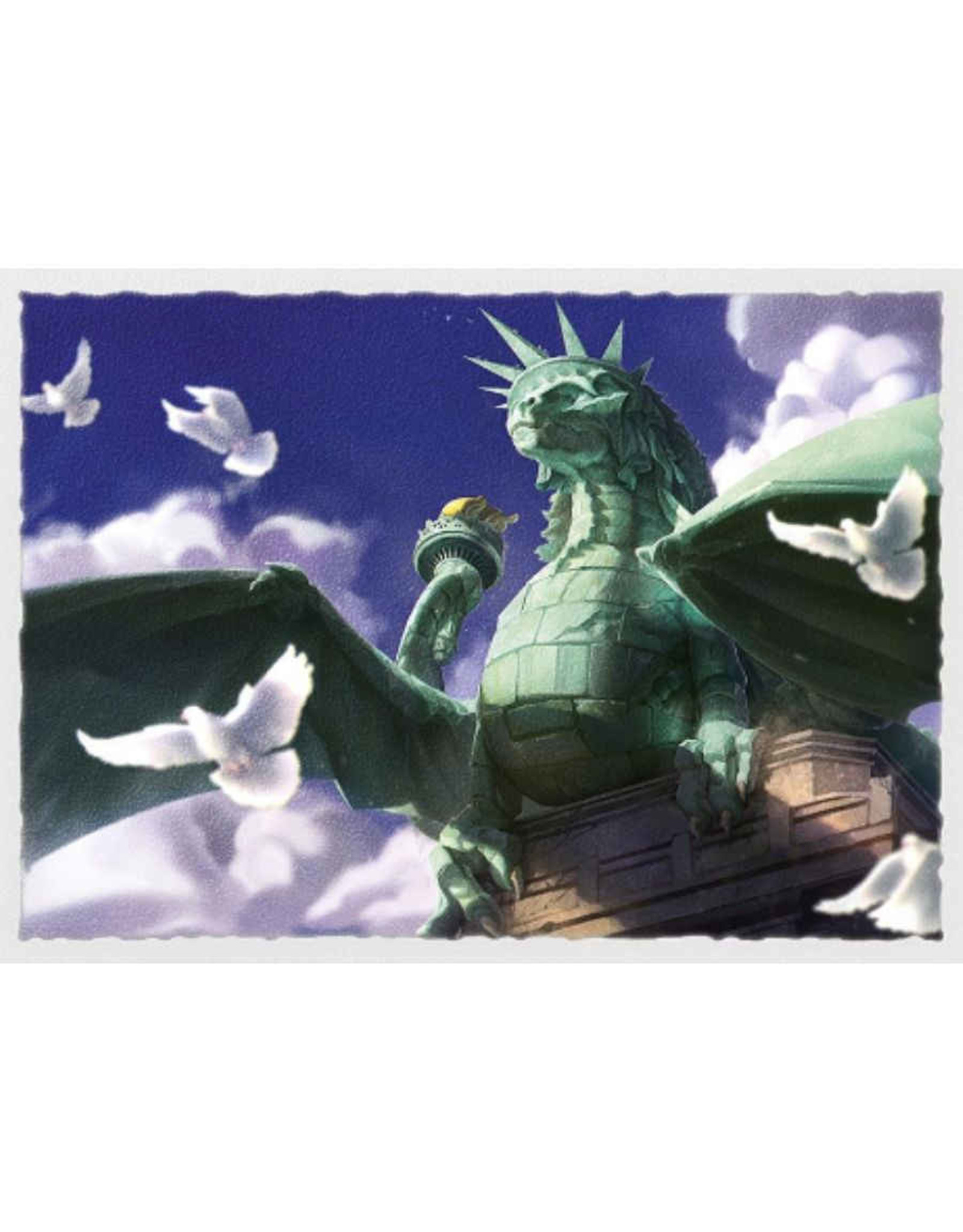 Arcane Tinmen DRAGON SHIELD SLEEVES MATTE DRAGON OF LIBERTY 100CT