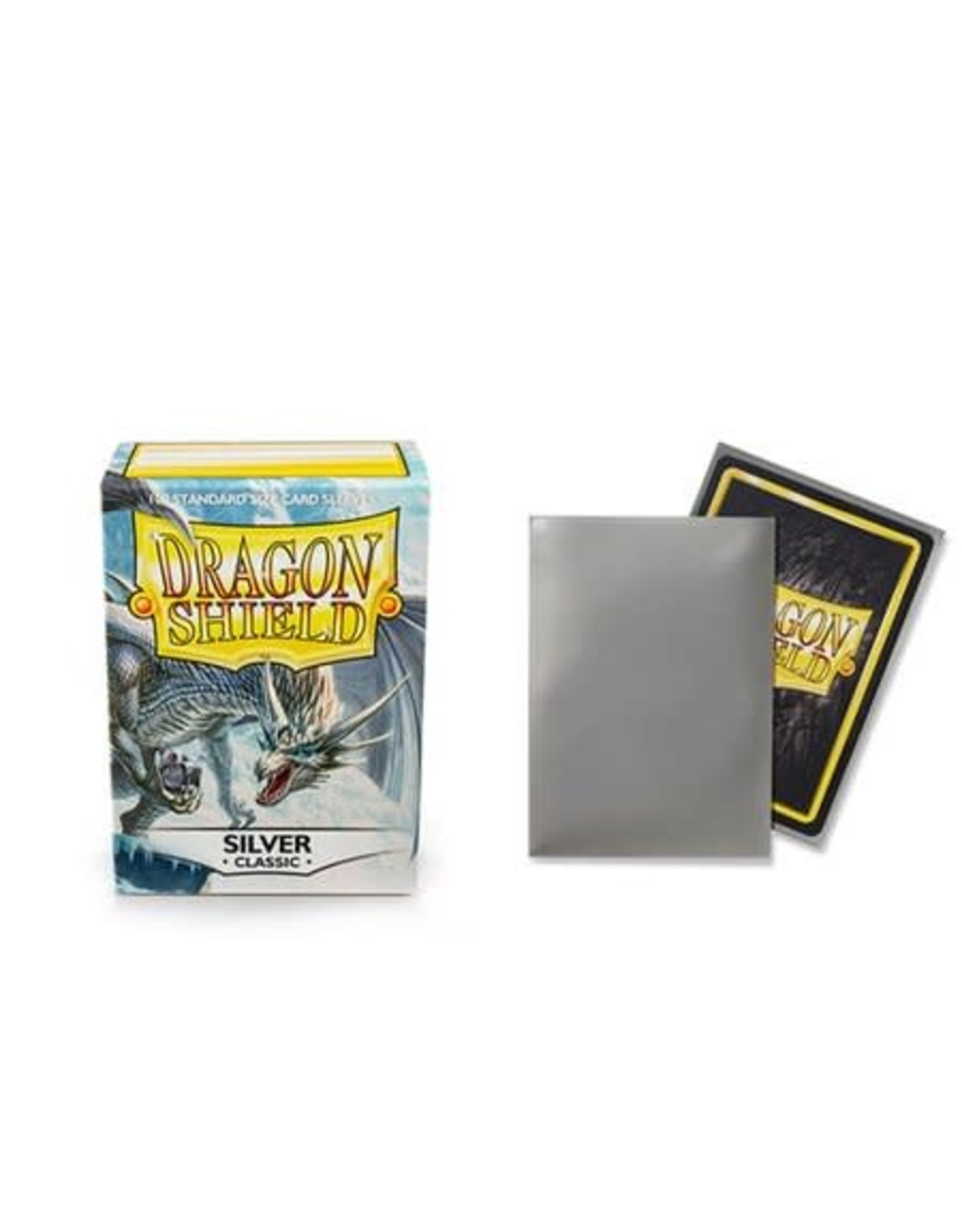Arcane Tinmen DRAGON SHIELD SLEEVES SILVER 100CT
