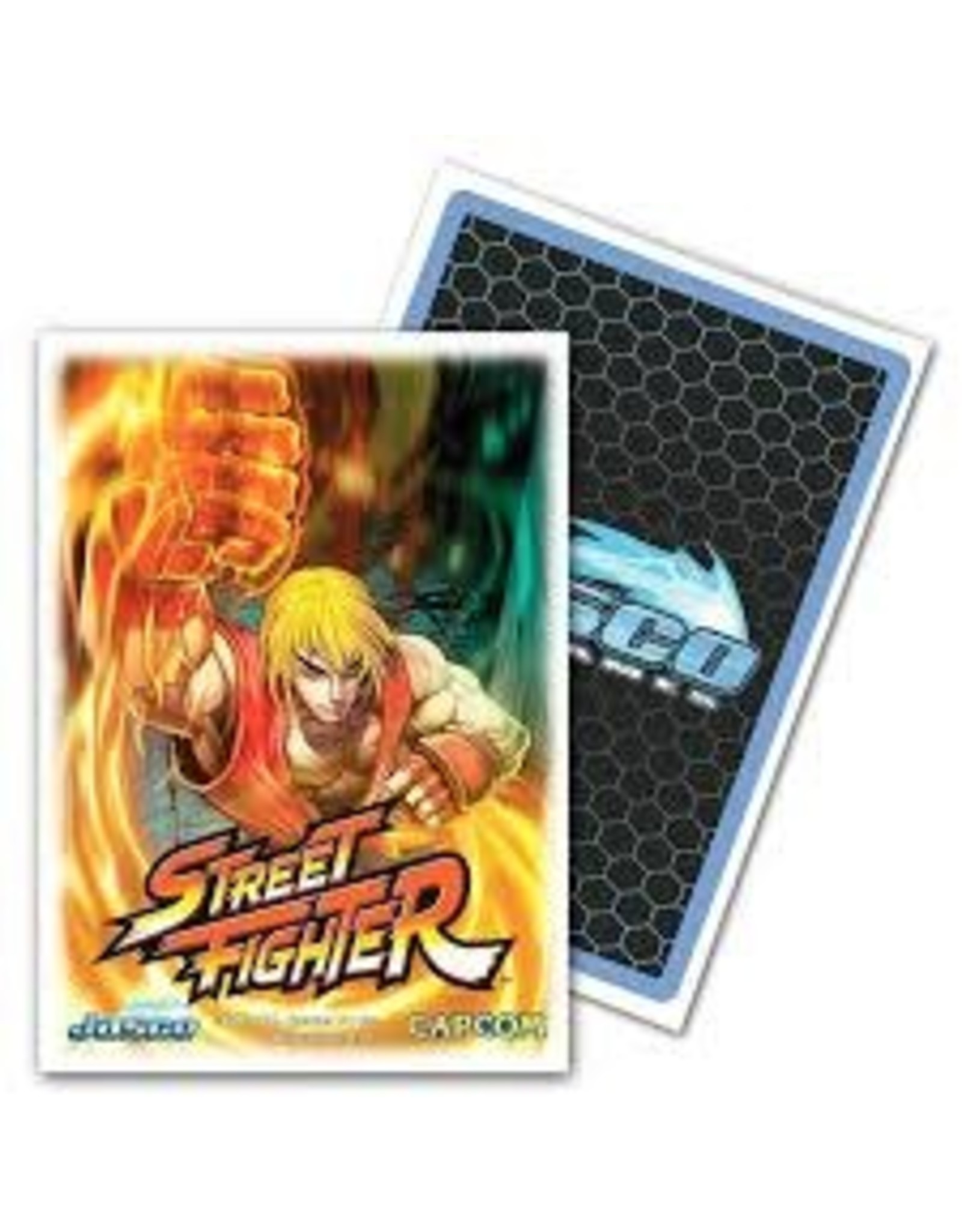 Arcane Tinmen JASCO SLEEVES CLASSIC ART STREET FIGHTER KEN 100CT
