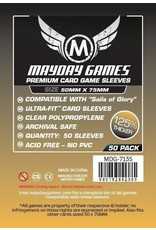 Mayday PREMIUM SAILS OF GLORY SLEEVES 50mm X 75mm 50CT