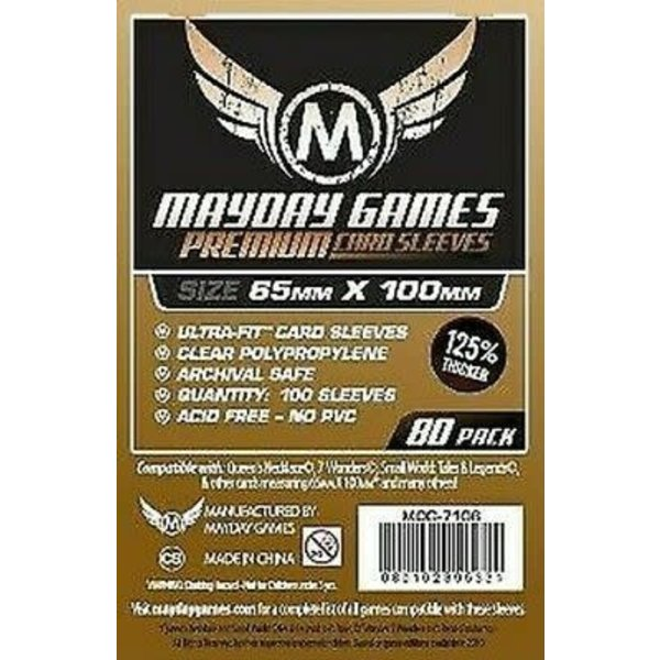 Mayday PREMIUM MAGNUM 7 WONDERS SLEEVES 65mm X 100mm 80CT