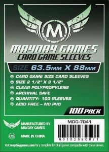 Mayday STANDARD CARD SLEEVES 63.5MM X 88MM 100CT