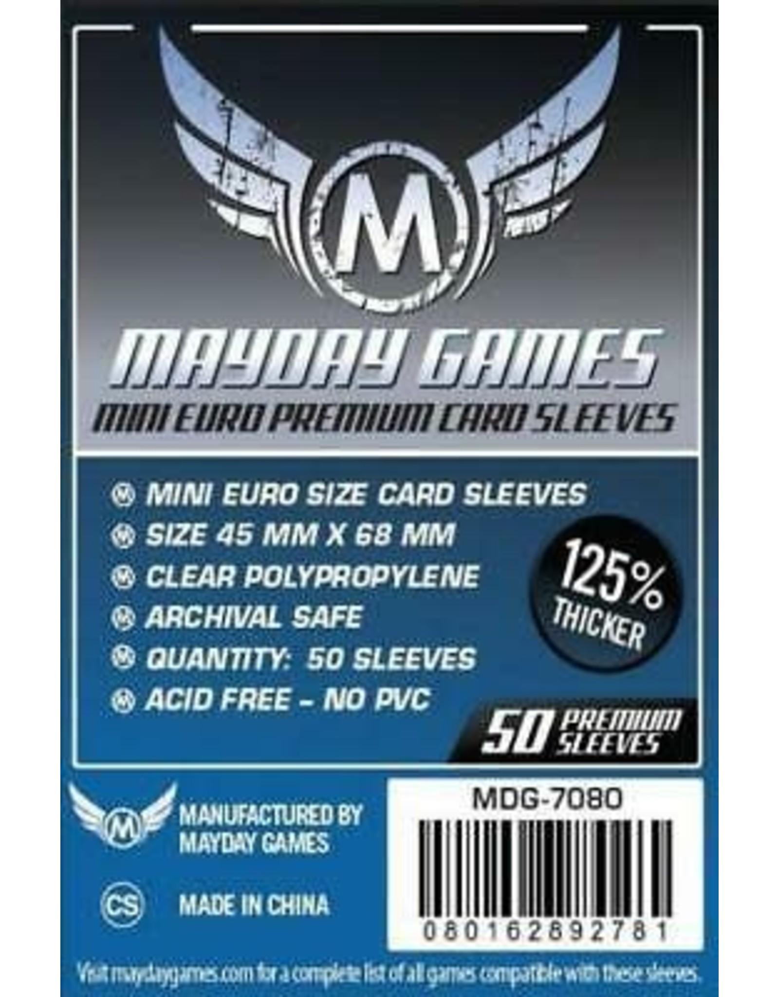 Mayday PREMIUM MINI EURO SLEEVES 45MM X 68MM 50CT