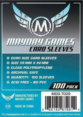 Mayday STANDARD EURO SLEEVES 59MM X 92MM 100CT