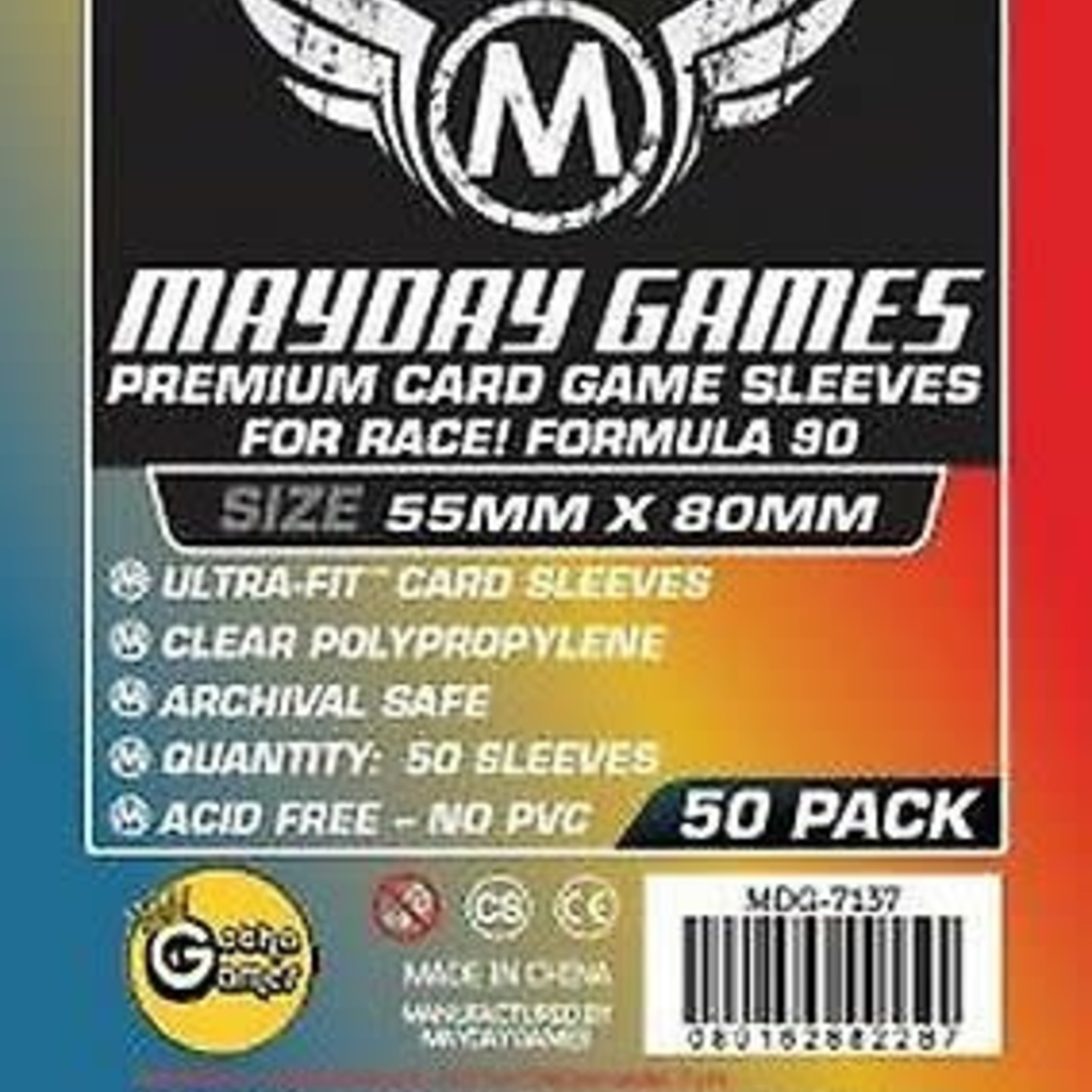 Mayday PREMIUM RACE FORMULA 90 SLEEVES 55mm X 80mm 50CT