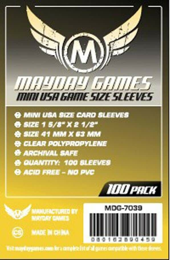 Mayday STANDARD MINI USA SLEEVES 41MM X 63MM 100CT