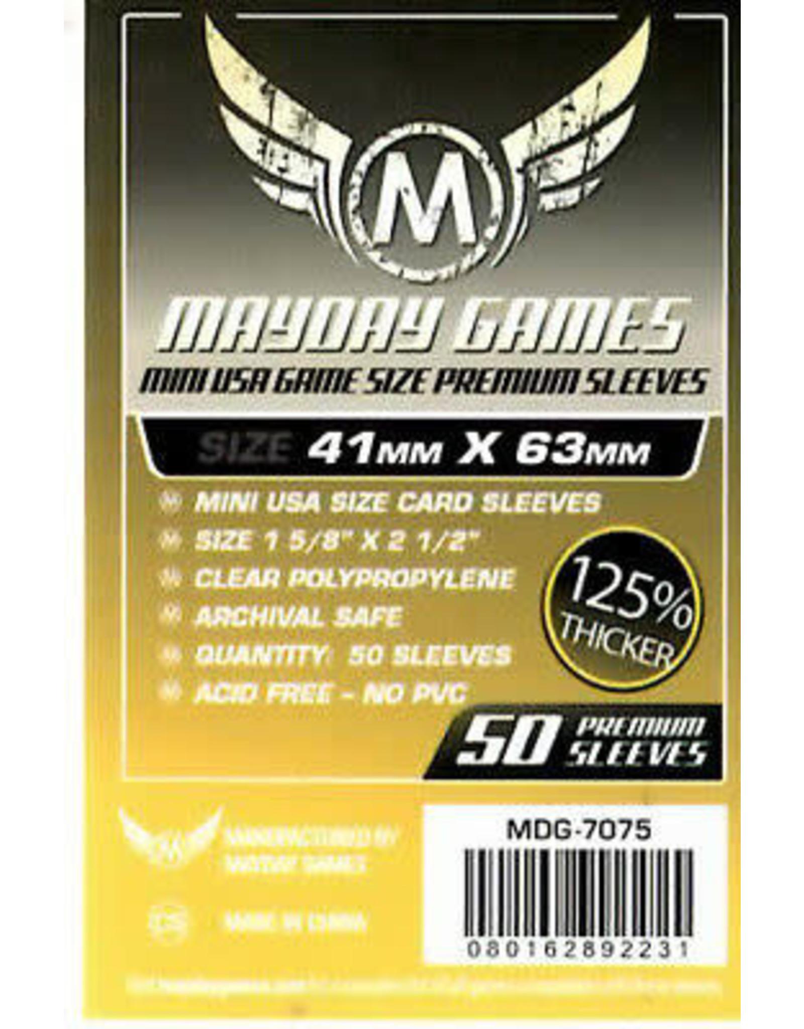 Mayday PREMIUM MINI USA SLEEVES 41MM X 63MM 50CT