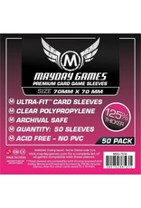 Mayday PREMIUM SMALL SQUARE SLEEVES 70mm X 70mm 50CT