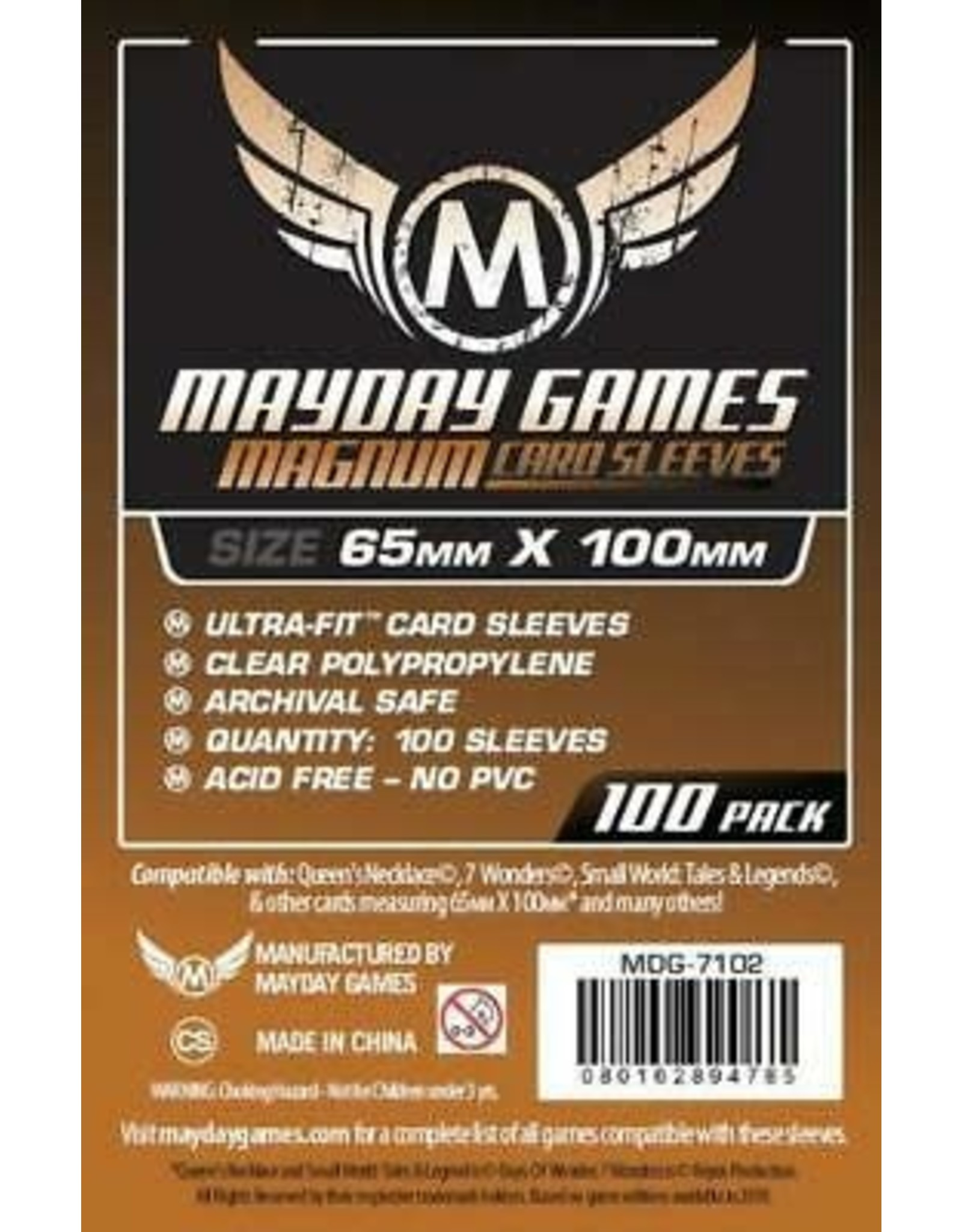 Mayday MAGNUM 7 WONDERS SLEEVES 65mm X 100mm 100CT