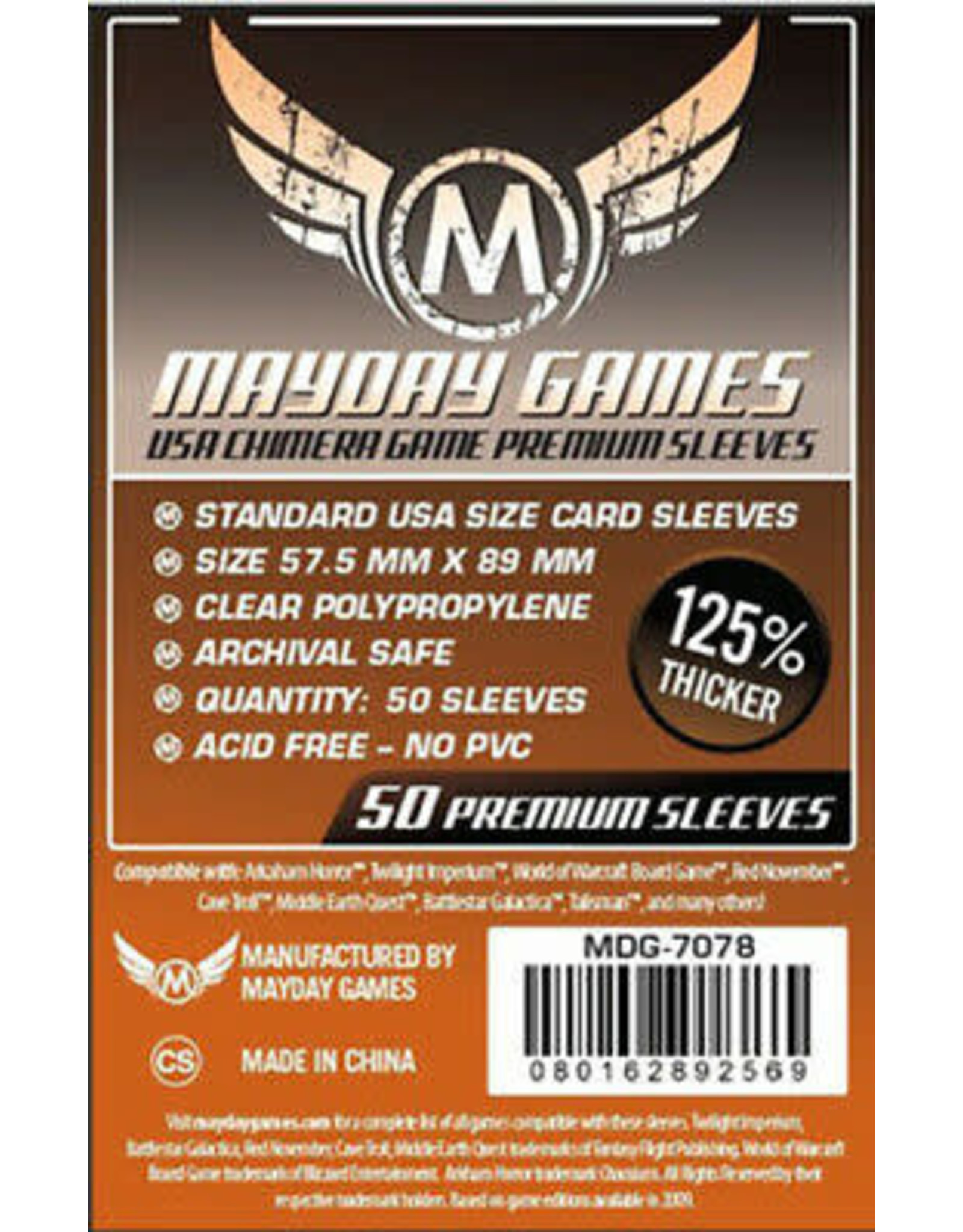 Mayday PREMIUM USA CHIMERA SLEEVES 57.5MM X 89MM 50CT