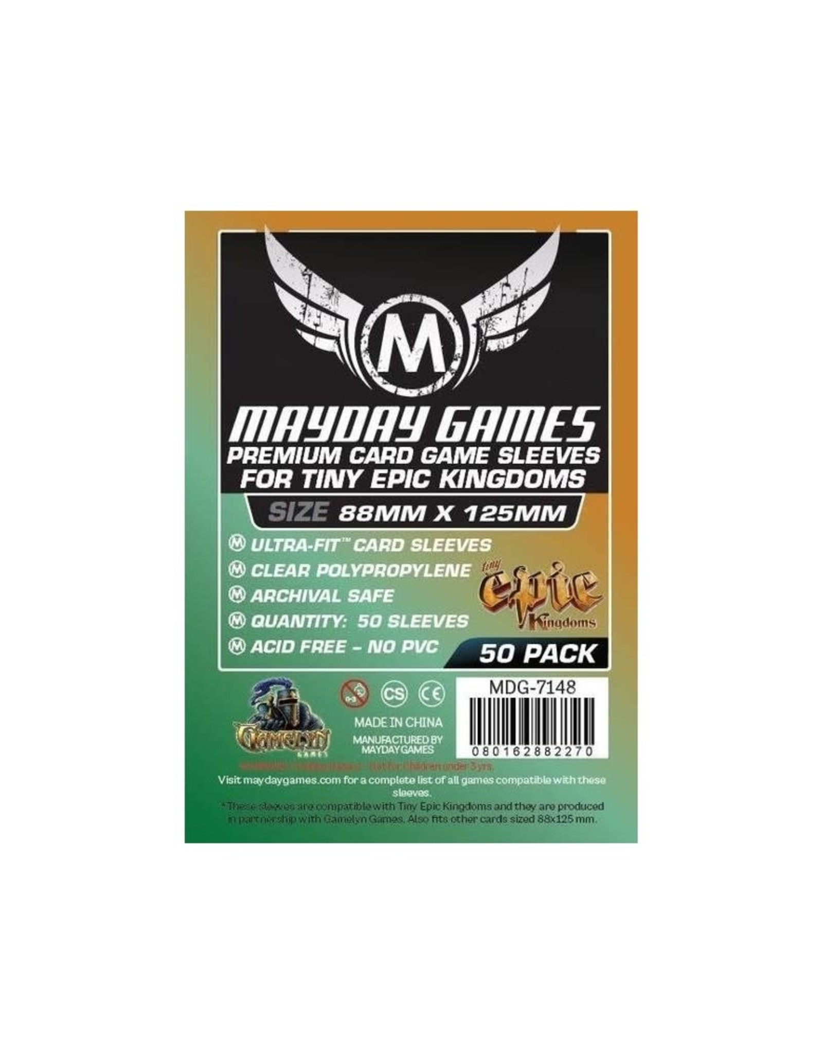 Mayday PREMIUM TINY EPIC SLEEVES 88mm X 125mm 50CT